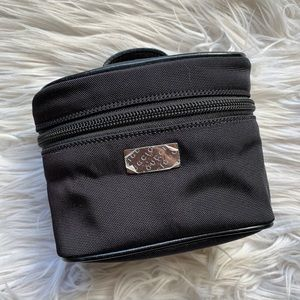 Gucci Small Black Zip Makeup Toiletry Travel Bag